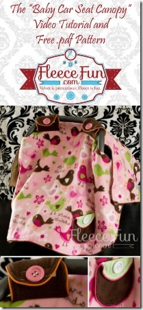 Baby Car Seat Cover from Fleece Fun