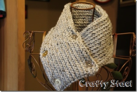 Buttoned Neck Warmer - Crafty Staci 8