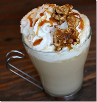Caramel Corn Hot Chocolate from Recipe Girl