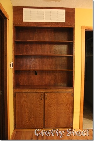 Changing the Background on a Built-in Cabinet - Crafty Staci 1