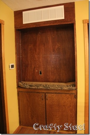 Changing the Background on a Built-in Cabinet - Crafty Staci 2