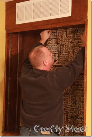Changing the Background on a Built-in Cabinet - Crafty Staci 4