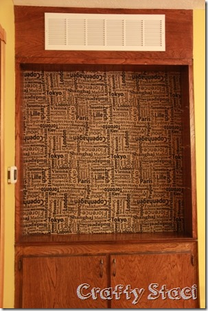 Changing the Background on a Built-in Cabinet - Crafty Staci 5