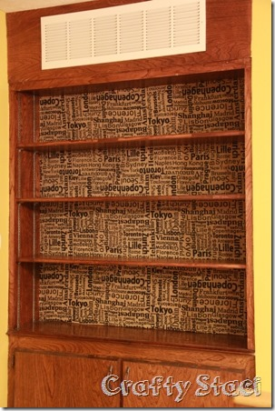 Changing the Background on a Built-in Cabinet - Crafty Staci 6