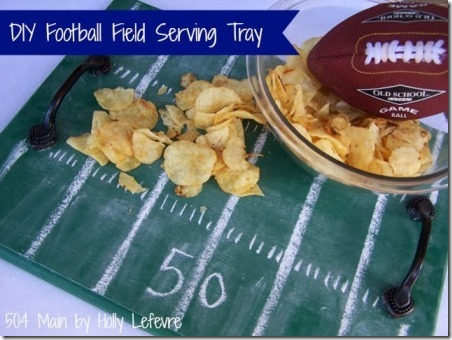 DIY Football Field Tray from 504 Main