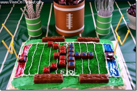 Football and Field Party Cans from Mom on Timeout