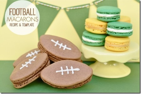 Football Macarons from Creative Juice