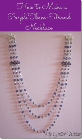 Purple Three Strand Necklace from My Girlish Whims