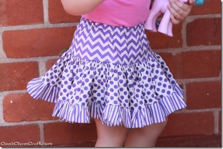Tiered Gathered Skirt from Cook Clean Craft