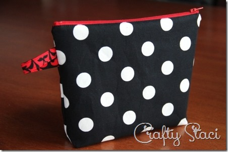 Easy Lined Zippered Bag - Crafty Staci 16