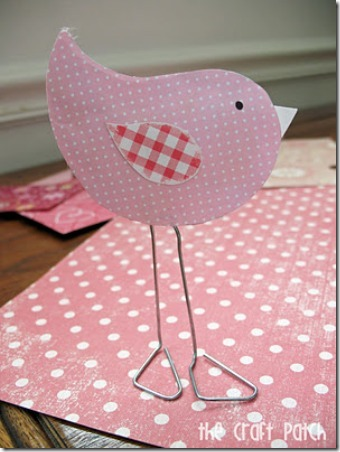 Paper Clip Love Birds on The Craft Patch