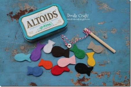Pocket Sized Magnetic Fishing Set from DoodleCraft