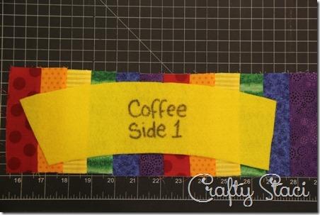 Rainbow Coffee Sleeve - Crafty Staci 4