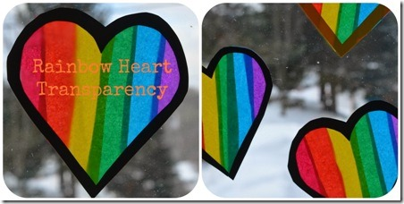Rainbow Heart Transparencies from Twig and Toadstool