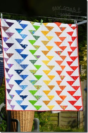 Rainbow Migrating Geese Quilt from Sew Create It