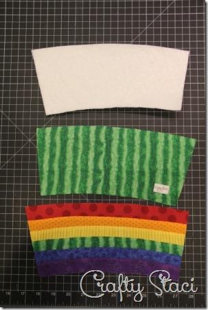 Rainbow Mug Mat - Crafty Staci 4
