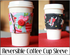 Reversible Coffee Cup Sleeve