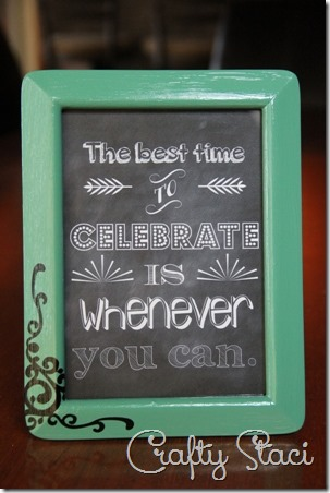 The Best Time to Celebrate Printable - Crafty Staci 1