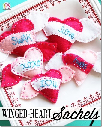Winged Heart Sachets by Positively Splendid
