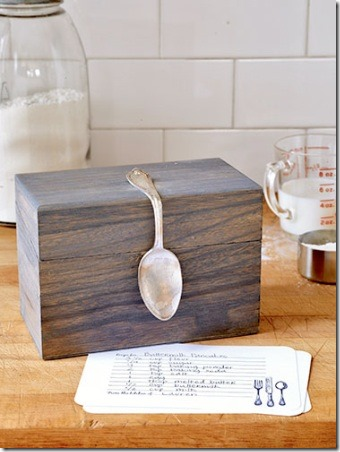 Bent Spoon Recipe Box from Country Living