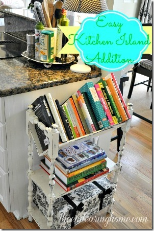 Easy Kitchen Island Addition from The Endearing Home