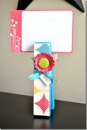 Easy Recipe Card Holder from Make and Takes