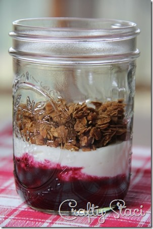 Greek Yogurt and Berries Parfait - Crafty Staci 1