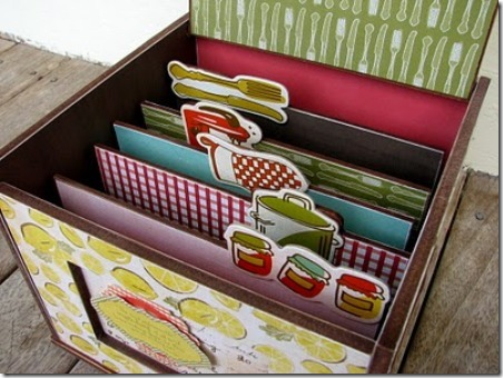 Recipe Box from Paper Vine