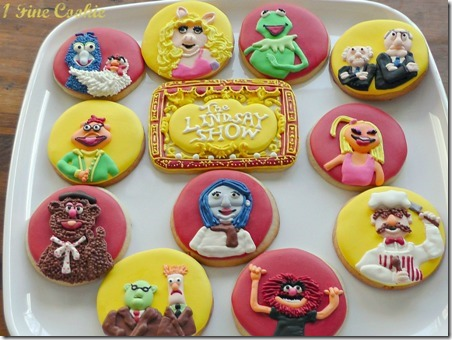 The Muppet Show Cookies from 1 Fine Cookie
