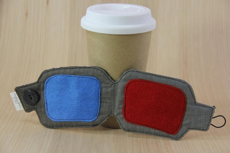 3-D Glasses Coffee Cup Sleeve - CraftyStaci