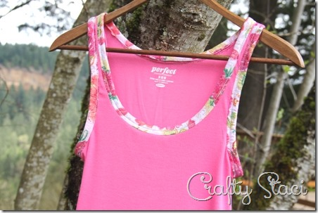 Adding Floral Trim to a Basic Tank - Crafty Staci 1