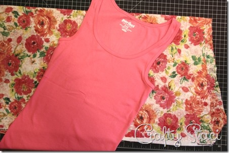 Adding Floral Trim to a Basic Tank - Crafty Staci 2