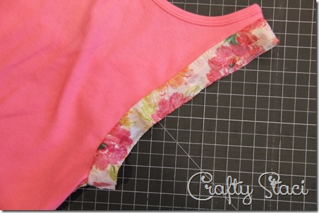 Adding Floral Trim to a Basic Tank - Crafty Staci 5