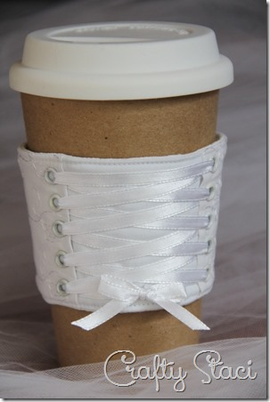 Bride Coffee Cup Sleeve - Crafty Staci