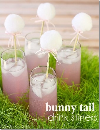 BunnyTail Drink Stirrers from Pizzazzerie