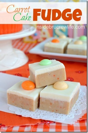 Carrot Cake Fudge by Inside Bru Crew Life
