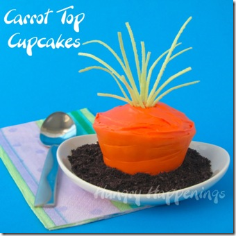 Carrot Top Cupcakes by Hungry Happenings