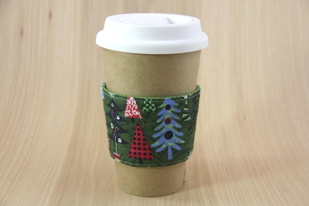 Christmas Trees Coffee Cup Sleeve - CraftyStaci