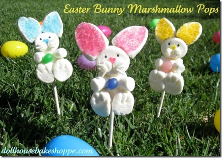 Easter Bunny Marshmallow Pops from Doll House Bake Shoppe