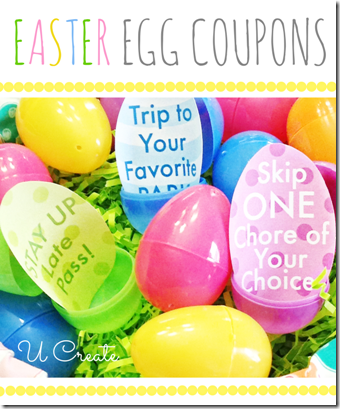 Easter Egg Coupons by UCreate