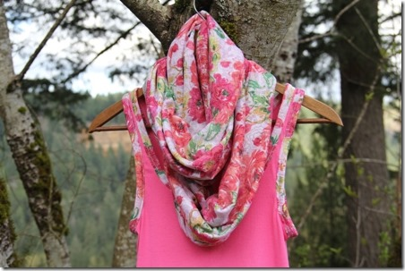 Easy Floral Infinity Scarf - Crafty Staci 1