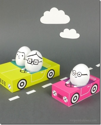 Egg People on the Road by Mr Printables