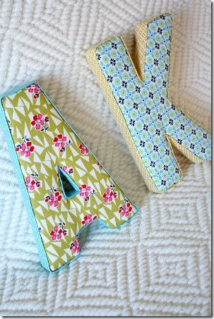Fabric Letters from Little Things Bring Smiles
