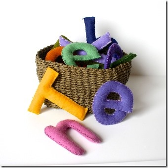 Felt Stuffed Toy Letters from Buggy and Buddy