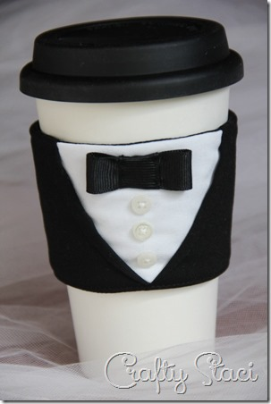 Groom Coffee Cup Sleeve - Crafty Staci