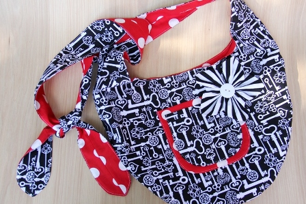 Keys and Red Polka Dot Sling Bag - CraftyStaci