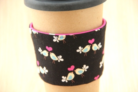 Lovebirds Coffee Cup Sleeve - CraftyStaci