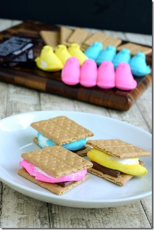 Peeps Smores by Eclectic Recipes