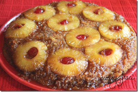 Pineapple Carrot Upside Down Cake - Crafty Staci 1