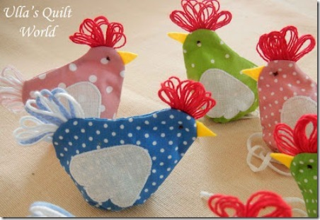 Quilted Easter Chicken Pouch by Ulla's Quilt World